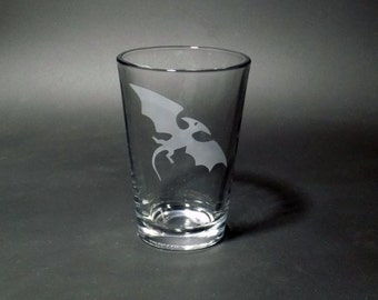 Pterodactyl Juice Glass - Pterosaur Glass - Flying Dinosaur Glass - Kid's Dinosaur Juice Glass - Jurassic Juice Glass