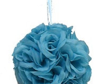 "Malibu blue pomander ball for decoration 4.5"" kissing pomander set of 6"