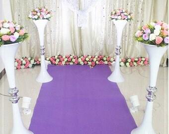 One Metre Tall White Flower Vase Vessel Stand Wedding Decoration