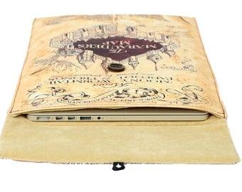 "The Marauders Map case 16"" Laptop Case - 16"" Laptop Sleeve - 16"" Computer Case 16"" - 16 inch laptop sleeve - Harry Potter - 16 inch laptop"