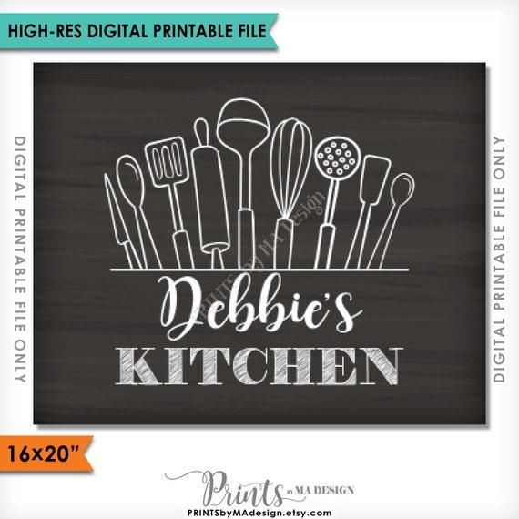 Kitchen Decor Wall Art Custom Kitchen Sign By Printsbymadesign