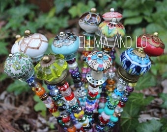 Plant Jewels ~ Fairy Garden Wands ~ Garden Decor - Gift - Whimsical Art - Wand - Garden Ornament - Garden Art - Gift for Her - Gift for HIm