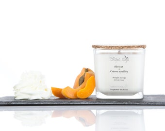 Apricot and cream vanilla, soy candle
