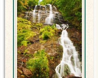 Amicalola Falls, North Georgia Mountains, Photo Note Card, Handmade Card, All Occasion Card, Photo Greeting Card, 5x7 Blank, Fine Art