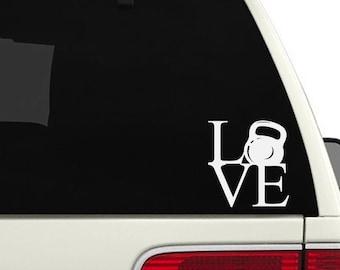 Vinyl Car Decal or Crossfit Decal - Love Crossfit
