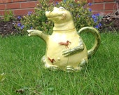 Crocodile Ornamental Teapot - Punch and Judy - Woods, Staffordshire Potteries, 1980s.