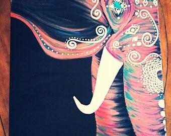 Fuschia/Magenta Bohemian Elephant