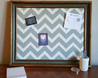 Magnetic Memo Board, Chevron Memo Board, Memo Board, Chevron Fabric, Framed Message Board, Fabric Memo Board, Message Board, Bulletin Board