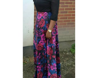 Pink floral  wrap skirt