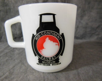 Mid-Continent Railway Museum Galaxy Milk Glass Mug