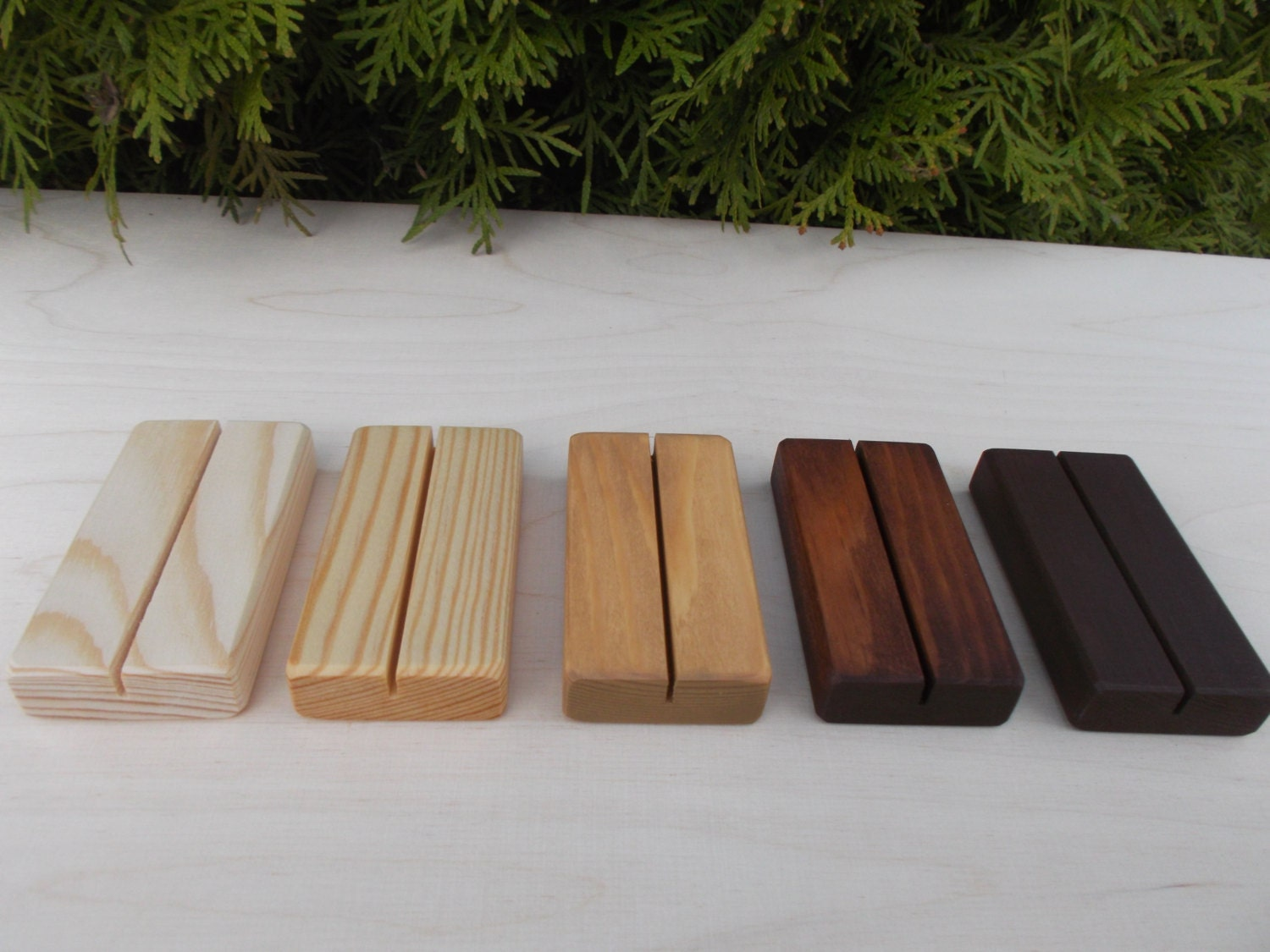10 rustic wedding place card holders place card