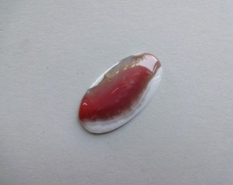 Red Banded Agate oval cabochon 42x22 mm
