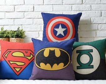 Heroes Throw Pillow, Decorative Pillow Cover, Cushion Cover, Bedroom Decor, Sofa Pillow Case, Accent Pillow Living Room
