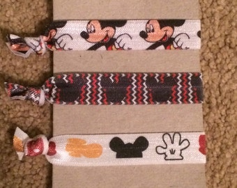 Mickey Mouse Hair Ties
