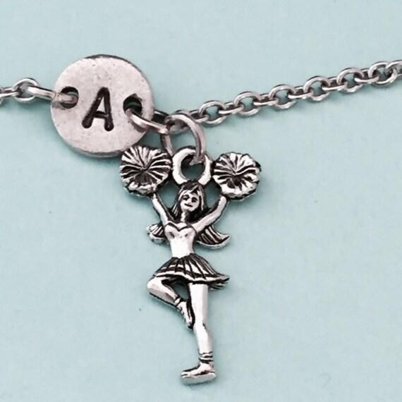 Cheer Charm Bracelets: Cheerleader Charm Bracelet Cheerleader Charm Adjustable
