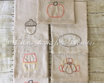 Fall Flour Sack Towels