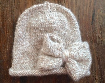 Baby, infant, toddler girl knitted hat