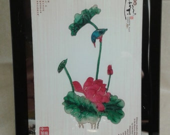 A framed shadow art still (Chinese)