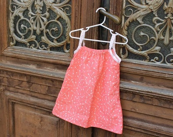 Coral colored sundress for girl 2T