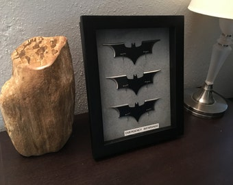 Batman Emergency Batarangs Wallmount Display - 3 Batarangs Dark Knight style
