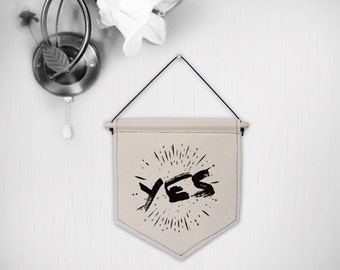 Hanging canvas wall banner-YES/NO
