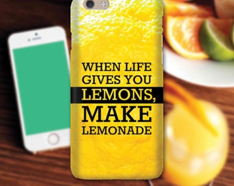 Snap Phone Case Cover for Apple iPhone 6 Live By These Lemons iPersonalised