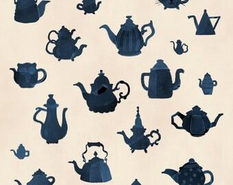 Teapots square print