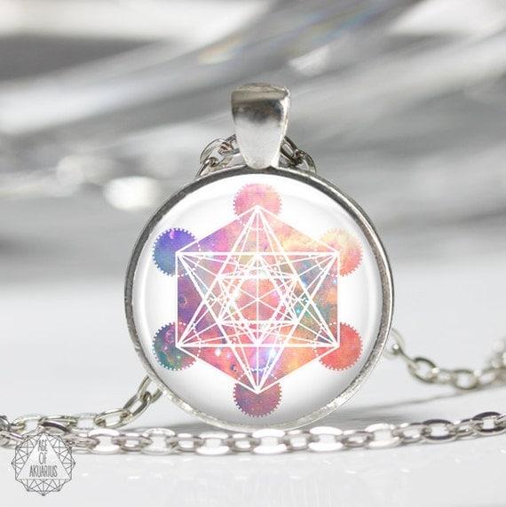 Metatron 39 s cube pendant necklace metatron necklace for Metatron s cube jewelry