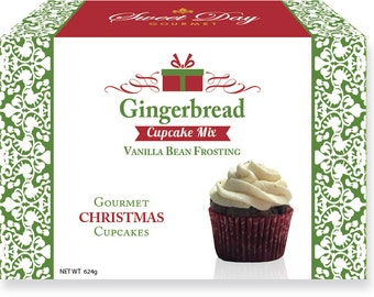 Gingerbread Cupcake Mix w/ Vanilla Bean Frosting