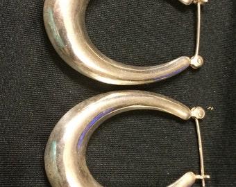 925 sterling sliver hoop earrings