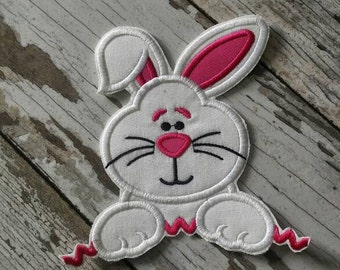 READY TO SHIP!!!! Easter Bunny Rabit Embroidered Iron On Patch.