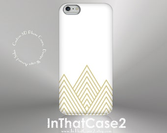 1295 // iPhone 6, 6 Plus iPhone 5S Case Samsung GalaxyS5case GalaxyS6case custom case gold triangle mountain stripe