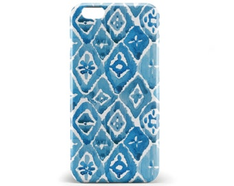 1344 /// Blue Watercolor Geometric Phone Case iPhone 5/5S, 6/6S, 6+/6S+ Samsung Galaxy S5, S6, S6 Edge Plus, S7