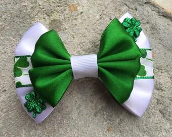 Saint Patrick hair bow