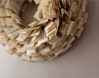 Homemade Folded Paper Wreath
