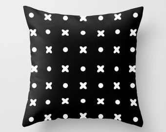 Decorative Pillow - Black and white pattern Pillow - Decorative cushion  - Modern Pillow - Throw Pillow -  accent pillow - home decor