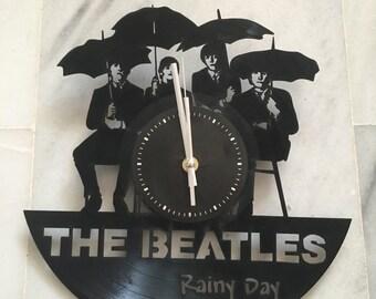 Wall clock Beatles, vinyl sticker