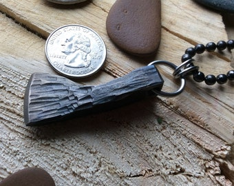 Blacksmith forged Medieval axe necklace