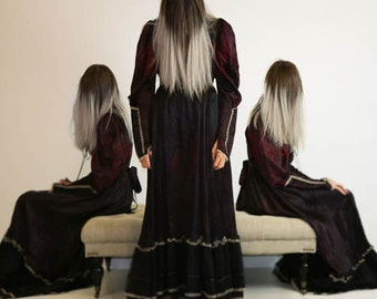 Ghostly Woman in a Vintage Dress, Triplets, Photography Fine Art Print, FREE SHIPPING