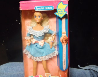 Mattel Party Time Barbie Doll, Barbie with Watch, Vintage