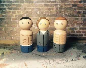 Handpainted Wooden Peg People Inspired By Twilight