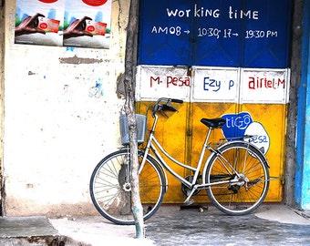 Bicycle art, bike poster, retro bicycle print, motivational art, inspirational art Bicycle Art, African Photography, Bike Print