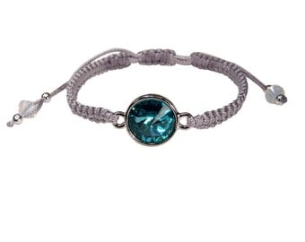 Bracelet with Crystal. Turquoise