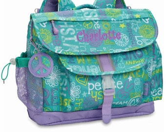 "Personalized Bixbee ""Hope Peace Love"" Kids Backpack (Large)"