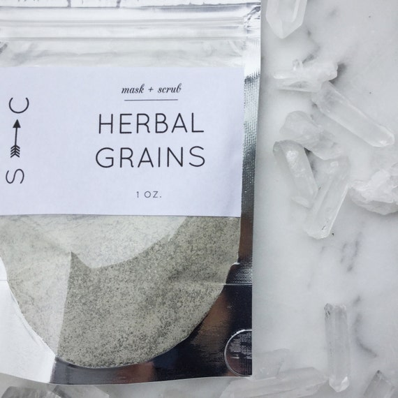 Herbal Cleansing Grains- Gentle Facial Scrub and Mask