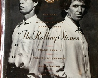 Mick Jagger,Keith Richards,Rolling Stones,Rolling Stone Issue 561,Rolling Stones Collectible,Rolling Stones Art,Rolling Stone Magazine