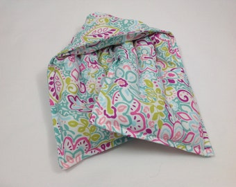 Rice heating pad, hot cold pack, Microwave rice bag, neck wrap, microwave heat wrap, rice bag, handmade heating pad