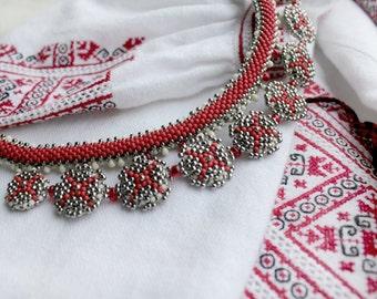 Choker - Necklace. Beaded Jewellery. Handmade.