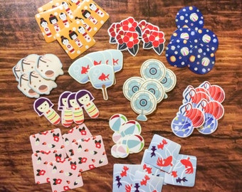 55 Japanese Summer Sticker Flakes