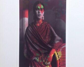 Frida Kahlo greeting card, Frida Kahlo postcard, blank card, Frida card, blank notecard, Frida portrait note card, blank postcard, Frida art
